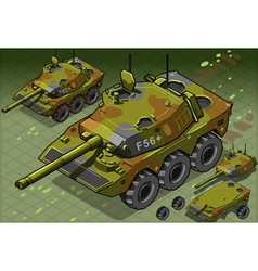 Isometric Tank Two Version vector image