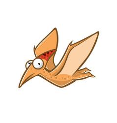cartoon funny pteranodon vector image vector image