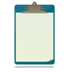 Clipboard with blank paper sheet vector image vector image
