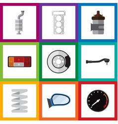 Flat icon auto set of input technology metal vector