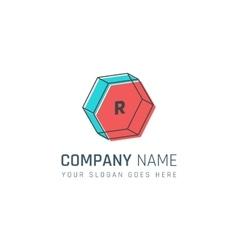 Geometric company logo vector image