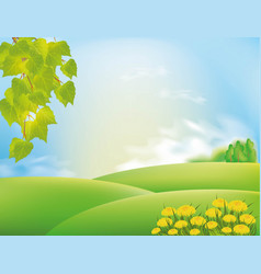nature landscape with sky and clouds vector image vector image