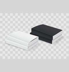 realistic book blank cover set black and white vector image vector image