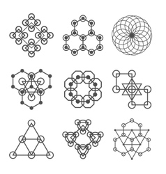 Set of line abstract geometric logotypes Set of vector image vector image