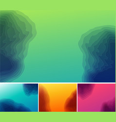 set of three banners abstract headers with step vector image vector image