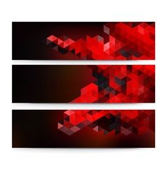 A set of modern technology banners vector image