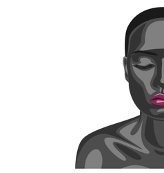 African fashion beauty Woman vector image