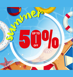 Background design for summer sale vector