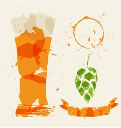Beer and elements consisting vector image