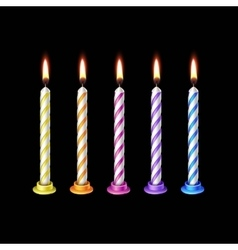 Birthday Candles Flame Fire Light Isolated vector image