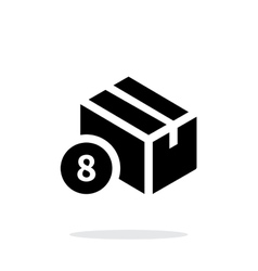 Box with number simple icon on white background vector