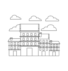 Buildings cityscape skyline icon vector