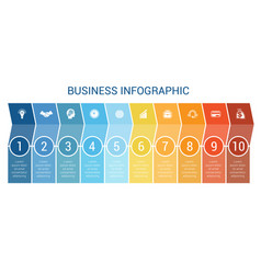 business infographic design for timeline ten vector image