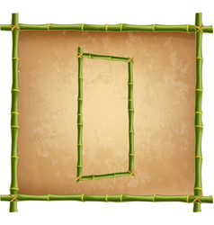 capital letter d made of green bamboo sticks on vector image