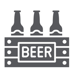 case beer glyph icon alcohol and drink pack vector image