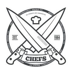 Chefs Vintage T-shirt graphics print vector