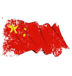 China Flag Grunge vector image