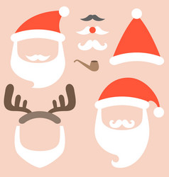 Collection of santa hat vector