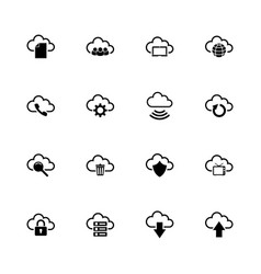 computer cloud - flat icons vector image