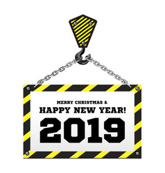 congratulations to the new year 2019 on the vector image