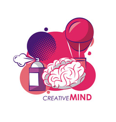 creative colors and ideas vector image