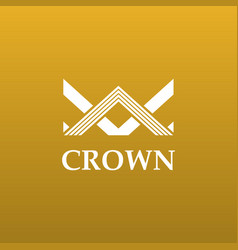 creative crown concept logo design template vector image