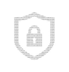 cyber security technology concept shield with vector image