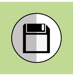 Diskette icon design vector