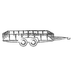 dump trailer cargo transport shipping sketch vector image