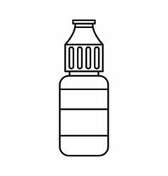 E-cigarette liquid flavour icon outline style vector