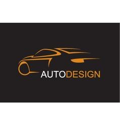 Emblem car vector