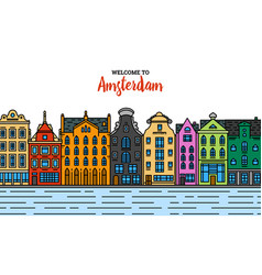 europe house or apartments set cute vector image