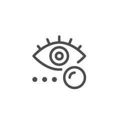 eye lens line icon vector image