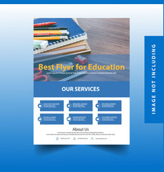 Flyer for education vector