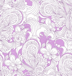 Gorgeous seamless floral background vector image