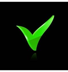 green checkmark vector image