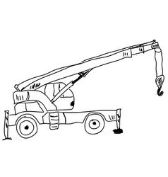 hand drawn sketch crane vector image