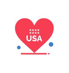 heart love american usa flat color icon icon vector image