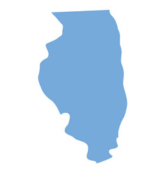 Illinois state map vector