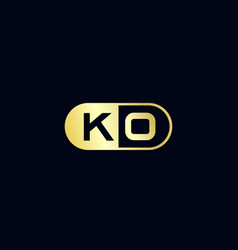 initial letter ko logo template design vector image