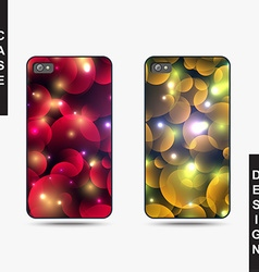 Isolated templates phone with Christmas design vector image