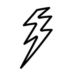 Isolated thunder icon design vector