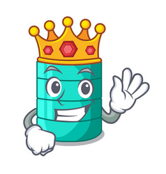 King cartoon water tank for in agriculture vector