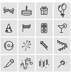 line party icon set vector image