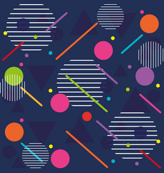 Lines figures and colors young pattern background vector