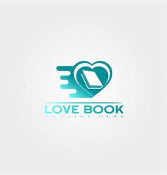 Love book icon template creative logo design vector