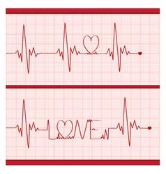 Love cardiogram vector
