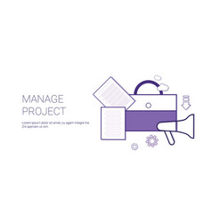 manage project business concept template web vector image