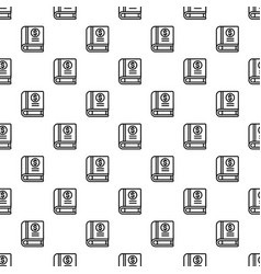 money book pattern seamless vector image