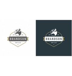 moose head logo emblem vector image